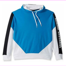 A X Armani Exchange Men's Color Block Pullover Hoodie, Directoire Blue/W... - $62.70
