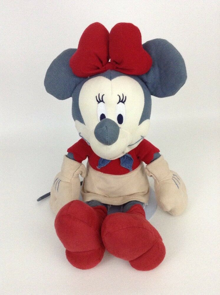 "Minnie Mouse Blue Jean Cowgirl Western Disney Store Large 17"" Plush Stuffed Toy"