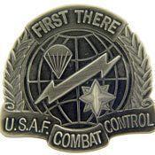 USAF COMBAT CONTROL Badge Pin (1-5/8'')