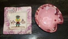 VTG MASCHANS CALIFORNIA POTTERY PINK PURPLE DRIP GLAZE RARE! NAI INDIAN ... - $39.40