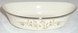 """Lenox Fresh Meadow Oval Serving Bowl S 10"""" Green Floral - $75.73"""