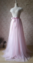 Women Toddler Pink Tulle Skirt Light Pink Long Tulle Tutu Skirt Outfit Plus Size