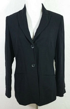Ann Taylor Factory Womens Blazer Size 10 Black Jacket Pockets Long Sleev... - $24.99
