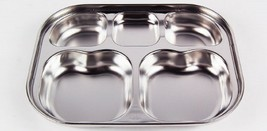 SuCompany Kids Lunch Box Airtight Stainless Steel Food Container Table Plate image 2