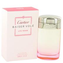 Cartier Baiser Vole Lys Rose 3.3 Oz Eau De Toilette Spray - $70.45