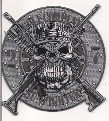 """USMC 2nd Battalion,7th Marines 6-1/4"""" Back Patch Gunfighters"""