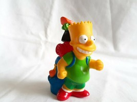"1990 Simpsons PVC Figure Burger King Camping Bart Simpson 3"" Vintage Backpack - $4.00"