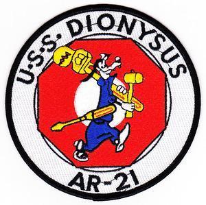 US Navy AR-21 USS DIONYSUS Aux Repair Tender Ship Patch
