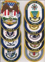 US Navy USS T-AKE- 1 - 11 Patches  image 1