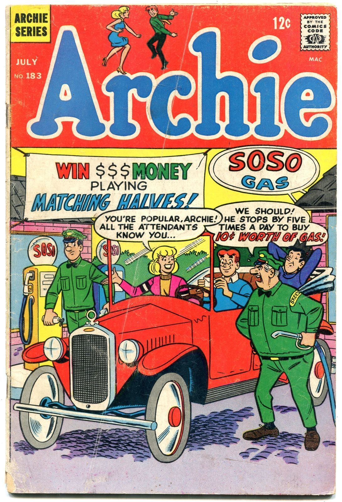 Archie Comics #183 1968- Silver Age-Betty & Veronica- vg