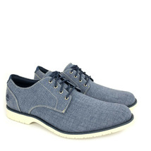 Timberland Men's Woodhull Denim Canvas Oxford Shoes A1XRZ - $59.99