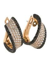 Vintage 18K Gold Plated White Topaz Ear Hoop Clip Women Drop Dangle Earrings - $6.20