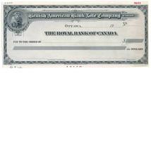 British American Bank Note Company, Ottawa, Canada, check proof, Canvas ... - $250.00