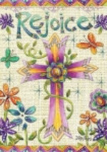Easter Garden Flag  1146 Rejoice  - $7.95