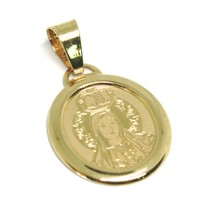Colgante Medalla de Oro Amarillo 750 18Ct, Virgen de Fátima con Corona, ... - $111.99