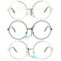 Womens Huge Oversize Large Retro Hippie Round Circle Clear Lens Eye Glasses - $9.95