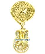 Cobra Serpent Collier Strass Pendentif avec 91.4cm Cubain Lien Chaîne - $15.02