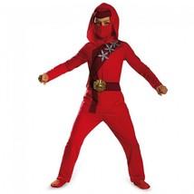 Disguise Shadow Ninja's Uprising Red Fire Ninja Classic Halloween Costum... - $29.81
