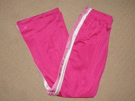 Girls Nike Zip Legs Flare Track Pants Sweatpants Youth Large 14 Pink Ath... - $29.91