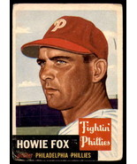 VINTAGE MLB 1953 Topps #22 Howie Fox Good - $12.50