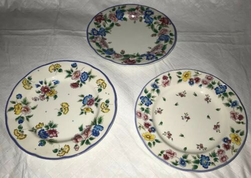 HAZELBURY by Laura Ashley, Small Side Bread and Butter Floral Plates (3) EUC
