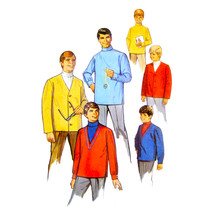 1960s Vintage Simplicity Sewing Pattern 7889 Boys Easy Top Shirt Jacket ... - $6.95