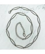 "Skinny Open Oval Belly Body Chain Link Belt Size Large L XL  37""-45"" - $13.95"
