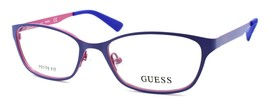 GUESS GU2563 091 Women's Eyeglasses Frames Petite 49-16-135 Matte Blue - $65.24