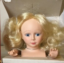"Fibre Craft Angel Doll Head n Hands set Long Blonde hair 3138-01 Blue eyes 3"" - $7.99"