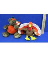 TY Beanie Babies Plush Original Stuffed Animal 1996 Gobbles 1993 Peter L... - $12.22