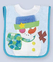 Snowman Pullover Bib for Baby - $12.00
