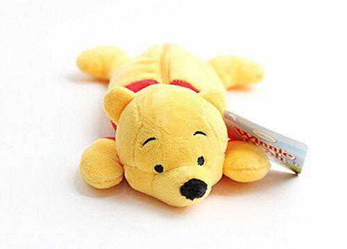 New Disney Winnie the Pooh Stuffed Plush Doll Pen Case Yellow Limited Japan image 2