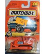"""1998 Matchbox """"Bulldozer"""" #14 of 100 Vehicles Mint Vehicle On Sealed Card - $4.00"""