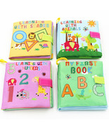 Baby Cartoon Rattles Toy Cloth Book Infant Development Learning Newborn ... - $3.99