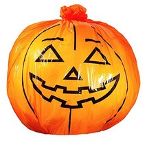 "Halloween Fall Giant Pumpkin Lawn Leaf Leaves Bag -- Large 45""x48"" Jack-... - £9.00 GBP"