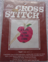 Lily Counted Cross Stitch Apple New/Old 1980s - $2.99