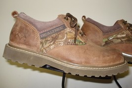 Men's REALTREE Outfitters Distressed Sand Suede Casual Oxford Size 9M EX... - $35.63