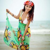 Women Beach Dress Sexy Sling Beach Wear Dress Sarong Bikini Cover-ups Wr... - $8.99