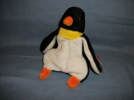 TY Beanie Babies Waddle The Penguin With Hang Tag 12/19/95 - $2.48