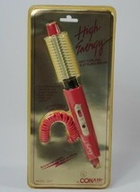 New Vintage Conair High Energy 301P Heated Curling Styling Brush Hot Pink Iron - $34.65