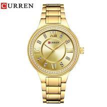 CURREN 9004 Top Luxury Brand Women Quartz Watch Crystal Design Ladies wristwatch - $39.17