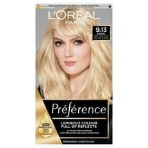 L'oreal Preference 9.13 Baikal Very Light Ashy Golden Blonde Hair Dye Shine Oil - $23.82
