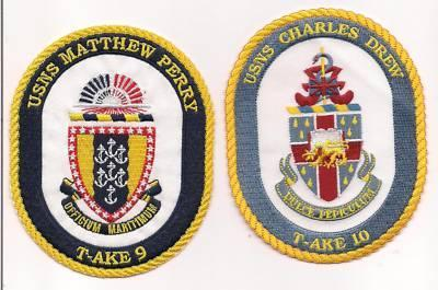 US Navy USS T-AKE- 1 - 11 Patches  image 4