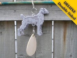 Weimaraner Deluxe crate tag double sided, hang ... - $24.00