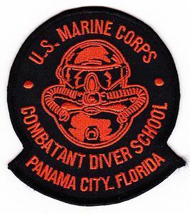 USMC US MARINE CORPS Combatant diver school Panama City Florida Military Patch