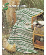 Safari Stripes Afghan Crochet Pattern Annies Attic Crochet & Quilt Club - $8.50