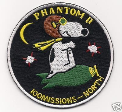 United States Military Phantom II F-4 100 missions North Patch
