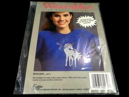 Golden Bee Wearables to Cross Stitch Kit 60274 Unicorn For Your Shirt Ho... - $13.85