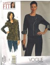 1081 non Découpé Vogue Patron de Couture Femmes Semi Moulante Blouse Gilet - $9.98
