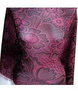 Sample Cut Fuchsia Blakc Floral Nylon Triple Mesh Lycra Stretch Fabric 1... - $24.00